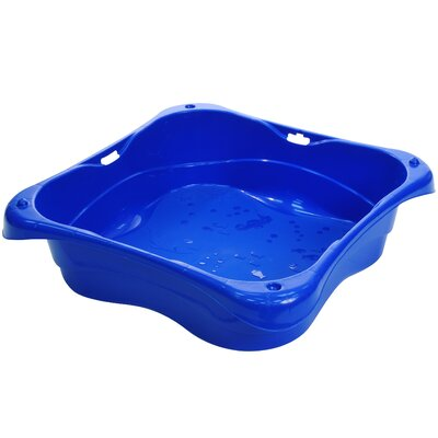 Lagoon Junior Pool 2.5' Square Sandbox Finish: Blue