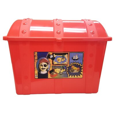 Treasure Chest Toy Box Finish: Red 01760