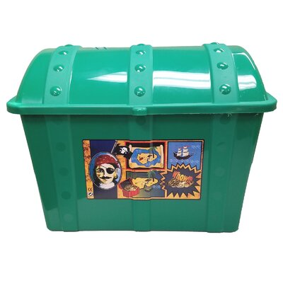 Treasure Chest Toy Box Finish: Green 04760