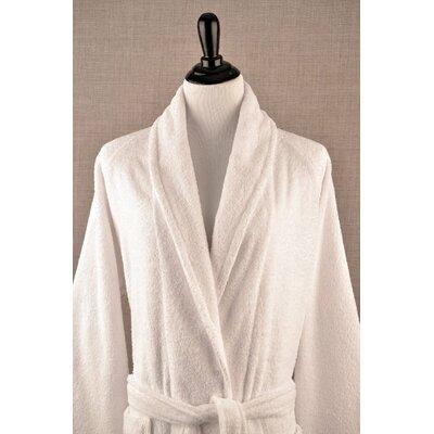 Shawl Collar Terry Cloth Bathrobe Size: Small