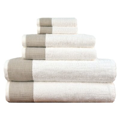 Venice 6 Piece Towel Set Color: Beige