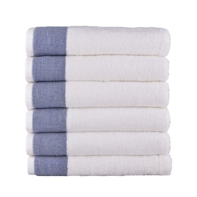 Venice 6 Piece Towel Set Color: Denim Blue