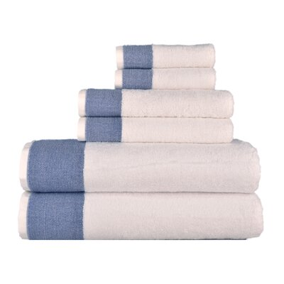 Venice 6 Piece Towel Set Color: Blue