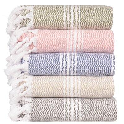 Pergamon 100% Premium Turkish Cotton Beach Towel Color: Beige