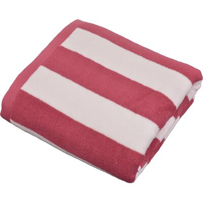 Stripped Turkish Cotton Pool and Beach Towel Color: Pink
