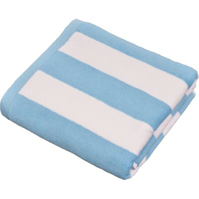 Stripped Turkish Cotton Pool and Beach Towel Color: Aqua