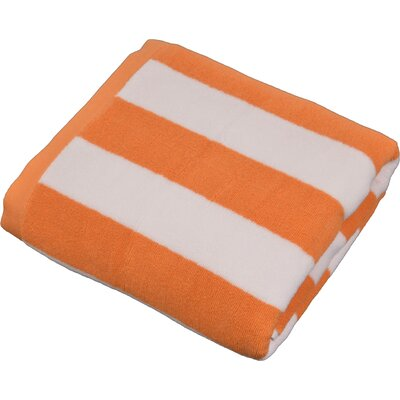 Stripped Turkish Cotton Pool and Beach Towel Color: Orange