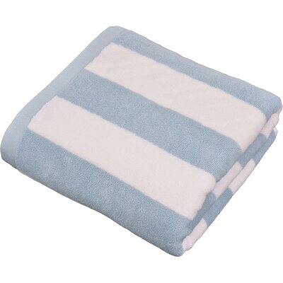 Stripped Turkish Cotton Pool and Beach Towel Color: Light Blue