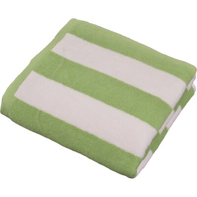 Stripped Turkish Cotton Pool and Beach Towel Color: Green