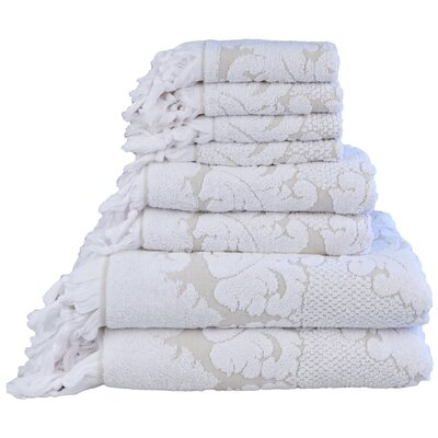 Nysa 6 Piece Towel Set Color: Beige