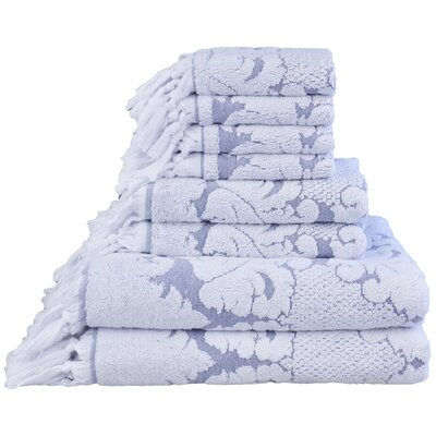 Nysa 6 Piece Towel Set Color: Blue