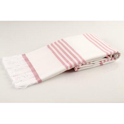 Sultan Luxury Turkish Terry Beach Towel Color: Pink