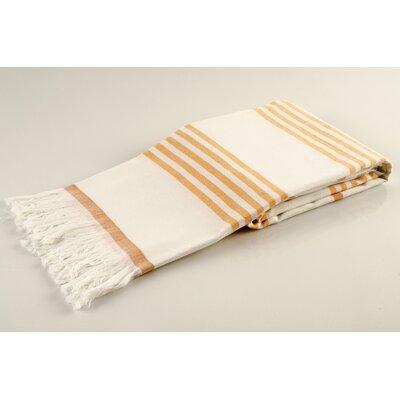 Sultan Luxury Turkish Terry Beach Towel Color: Orange