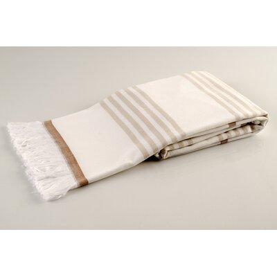 Sultan Luxury Turkish Terry Beach Towel Color: Beige