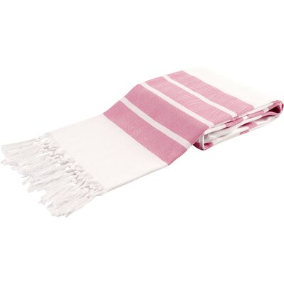 Pasha Herringbone Peshtemal Beach Towel Color: Pink