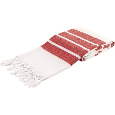 Pasha Herringbone Peshtemal Beach Towel Color: Red