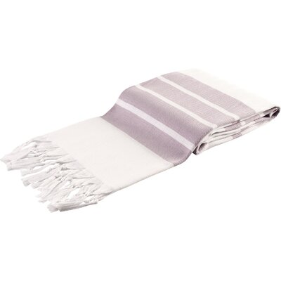 Pasha Herringbone Peshtemal Beach Towel Color: Lilac