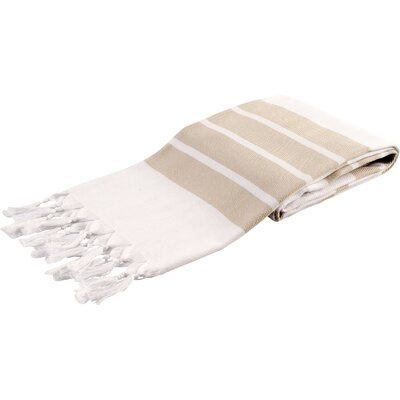 Pasha Herringbone Peshtemal Beach Towel Color: Beige