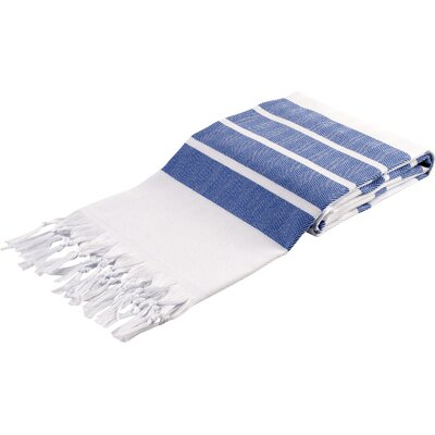Pasha Herringbone Peshtemal Beach Towel Color: Navy Blue