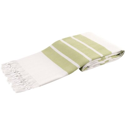 Pasha Herringbone Peshtemal Beach Towel Color: Green