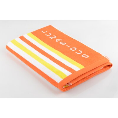 Cotton Beach Towel Color: Yellow/Orange