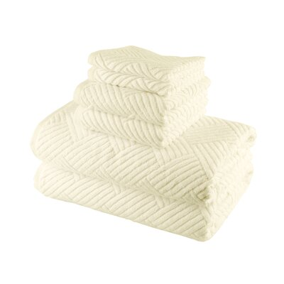 Smyrna Cotton 6 Piece Towel Set Color: Ivory