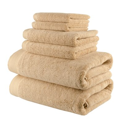 Odessa Cotton 6 Piece Towel Set Color: Almond Beige