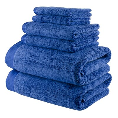 Odessa Cotton 6 Piece Towel Set Color: Royal Blue