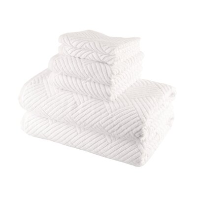 Smyrna Cotton 6 Piece Towel Set Color: White