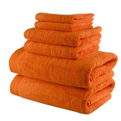 Odessa Cotton 6 Piece Towel Set Color: Bright Orange