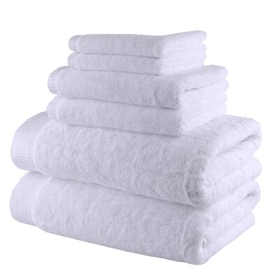Odessa Cotton 6 Piece Towel Set Color: Snow White