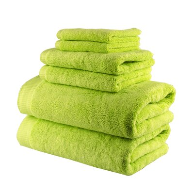 Odessa Cotton 6 Piece Towel Set Color: Pistachio Green