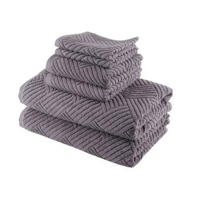 Smyrna Cotton 6 Piece Towel Set Color: Grey