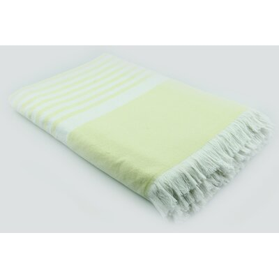 Luxury Terry Cotton Blanket Color: Lime