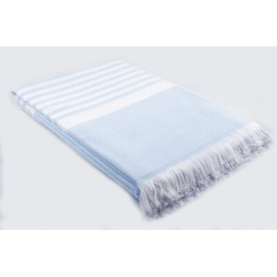 Luxury Terry Cotton Blanket Color: Light Blue
