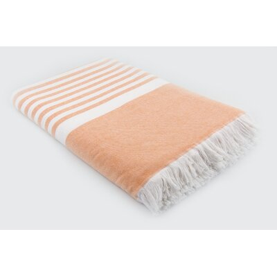 Luxury Terry Cotton Blanket Color: Orange