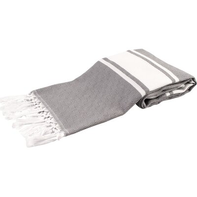 Zavier Luxury Turkish Beach Towel Color: Gray