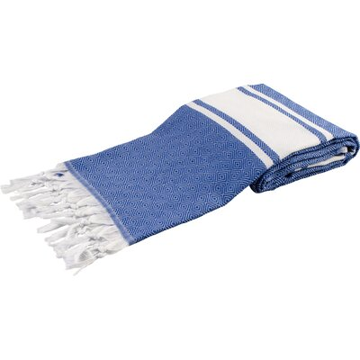 Pasha Luxury Turkish Beach Towel Color: Navy Blue