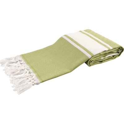 Zavier Luxury Turkish Beach Towel Color: Green