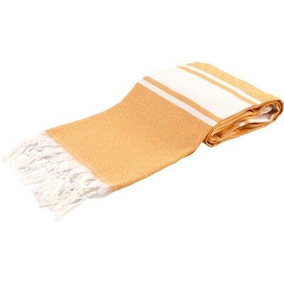 Zavier Luxury Turkish Beach Towel Color: Orange