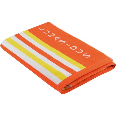 Luxury Stripe Beach Towel Color: Orange - Yellow