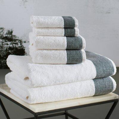 Venice 6 Piece Towel Set Color: Black