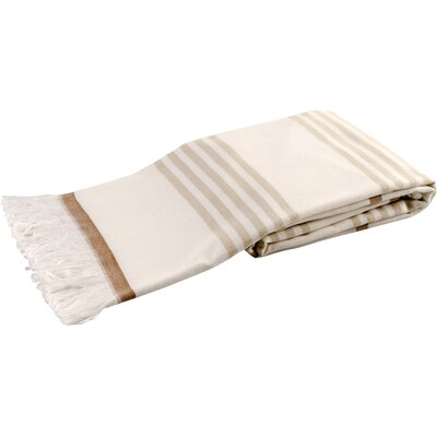 Sultan Luxury Turkish Terry Beach Towel Color: Beige