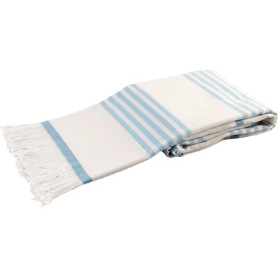 Sultan Luxury Turkish Terry Beach Towel Color: Turquoise
