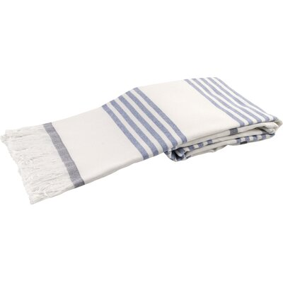 Sultan Luxury Turkish Terry Beach Towel Color: Navy Blue