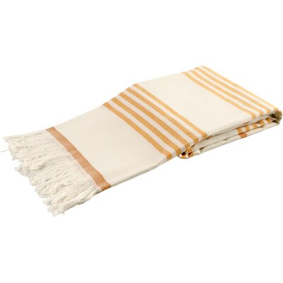 Sultan Luxury Turkish Terry Beach Towel Color: Orange