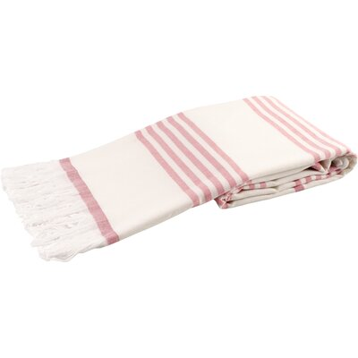 Sultan Luxury Turkish Terry Beach Towel Color: Pink