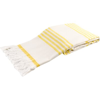 Sultan Luxury Turkish Terry Beach Towel Color: Yellow