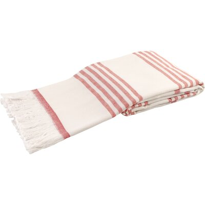 Sultan Luxury Turkish Terry Beach Towel Color: Red