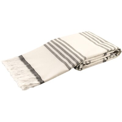 Sultan Luxury Turkish Terry Beach Towel Color: Gray